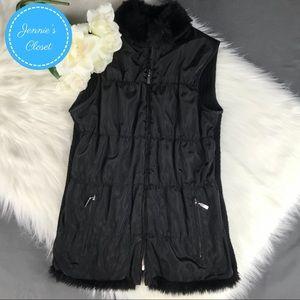 Chico's Faux Fur Lined Zip Front Vest 0 S
